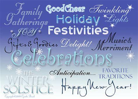 Winter Holiday Greetings Quotes