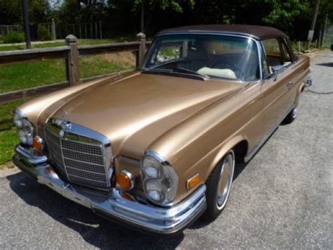 1970 Mercedesbenz 280se Low Grille Cabriolet Beverly