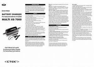 Ctek Multi Xs 4003 User Manual