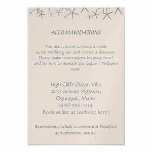 starfish destination wedding hotel enclosure cards 35quot x With wedding invitation enclosures order