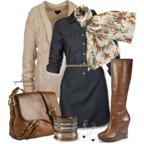 Casual Comfy Polyvore Combos With Brown Boots