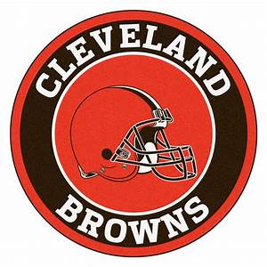 "Cleveland Browns Logo Roundel Mat - 27"" Round Area Rug"