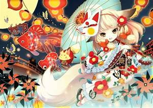 Anime, Girls, Animal, Ears, Traditional, Clothing, Original, Characters, Wallpapers, Hd, Desktop, And