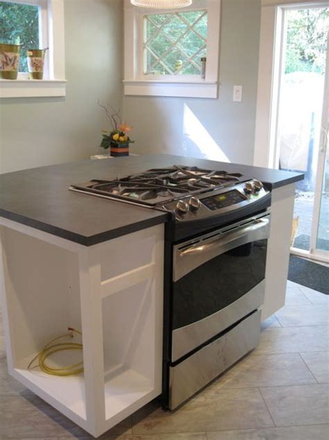 kitchen island with slide in stove best 25 stove in island ideas on kitchen 9453