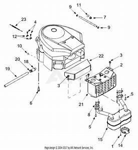 Troy Bilt 14at809h766 Horse  2004  Parts Diagram For Engine Accessories
