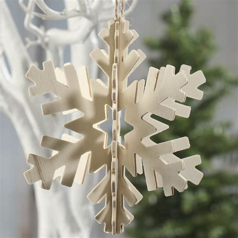 Unfinished Wood Snowflake Ornament Cutouts