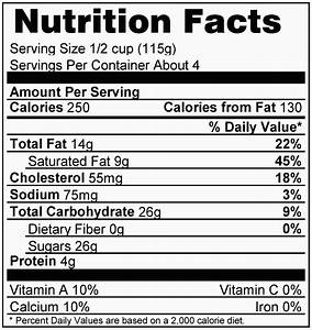 nutrition facts table template - nutritional labels print your own nutritional labels