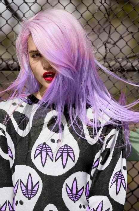 Ombré Violet Pastel Sur Cheveux Roses Cheveuxviolets