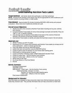33 Nutrition Facts Label Worksheet