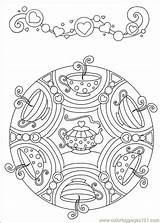 Mandolin Coloring Getcolorings Tea sketch template