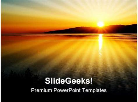 sunset nature powerpoint templates  powerpoint