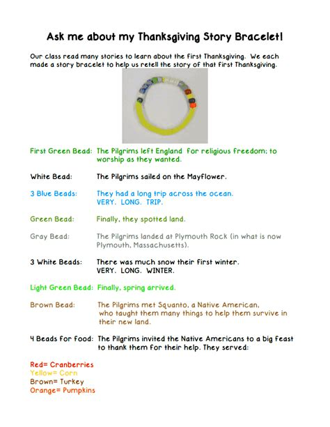 thanksgiving story braceletpdf google drive
