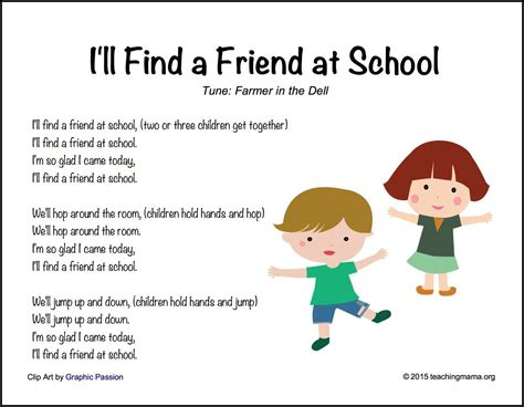 back to school songs for preschoolers 576 | Ill Find a Friend at School