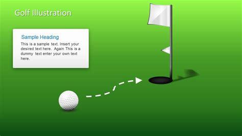 golf ball shapes  powerpoint slidemodel