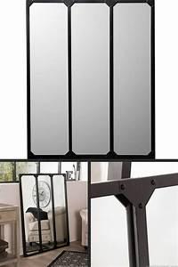Miroir Industriel Ikea : miroir salon rectangulaire miroir sabot bois deux chambre ~ Teatrodelosmanantiales.com Idées de Décoration