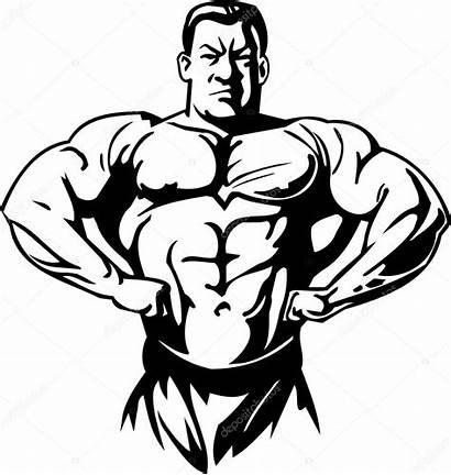 Bodybuilding Clipart Vector Bodybuilder Powerlifting Builder Illustration