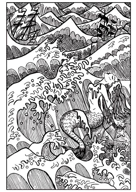 mermaid   sea mermaids adult coloring pages