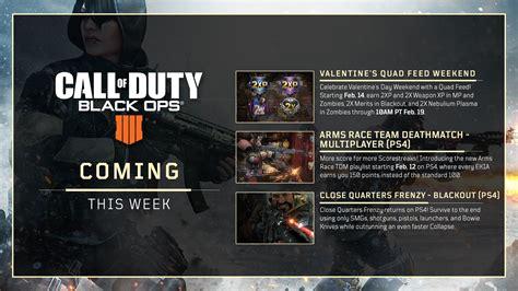coming  week  black ops  quad feed