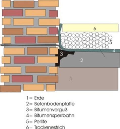 Bodenplatte Abdichten Altbau by Feuchte Bodenplatte Bodenplatte Platte Trockenestrich