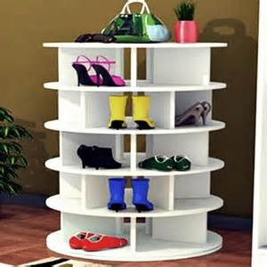 How To Organize A Lazy Susan Cabinet by Rotating Lazy Susan Shoe Rack 4 Tier Shoe Storage Unit