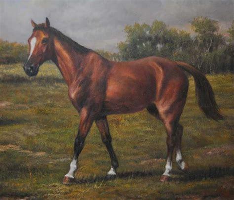 horse  pony victorian oil painting pastoral landscape