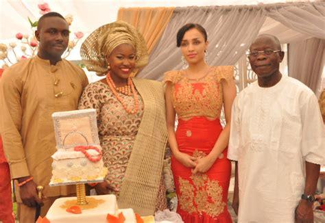Iara And Adams Oshiomhole Attend Traditional Wedding Of