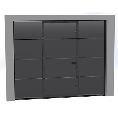 porte de garage avec portillon porte de garage sectionnelle motoris 233 e artens essentiel 200x300cm avec portillon leroy merlin