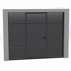 porte de garage sectionnelle motorisee artens essentiel With porte de garage motorisée avec portillon