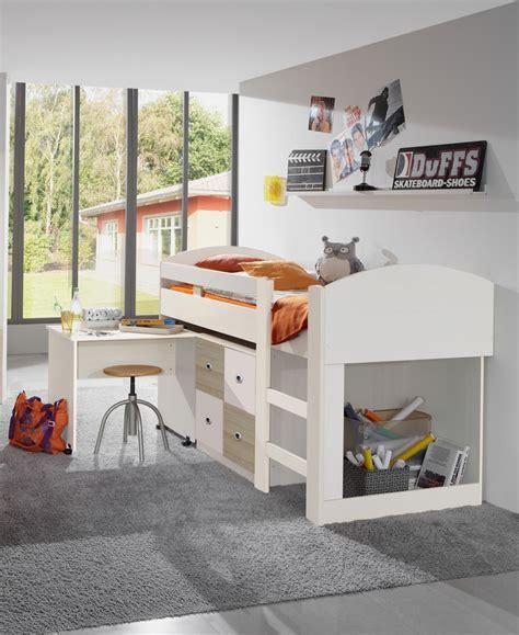 Kinderbett Mit Schreibtisch by Bett Mit Schreibtisch Halbhohes Bett Charly 2 Akazie Inkl