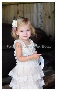 champagne rustic lace chiffon dress with matching headband With wedding dresses with matching flower girl dress