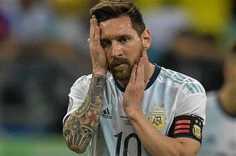 lionel messi bitter  colombia defeat  copa america