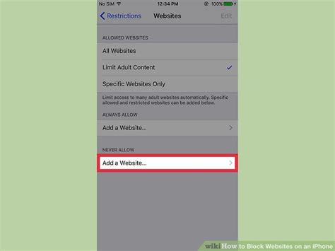 block websites on iphone how to block websites on an iphone with pictures wikihow