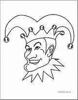 Jester Coloring Clip Abcteach Clipart Preview sketch template