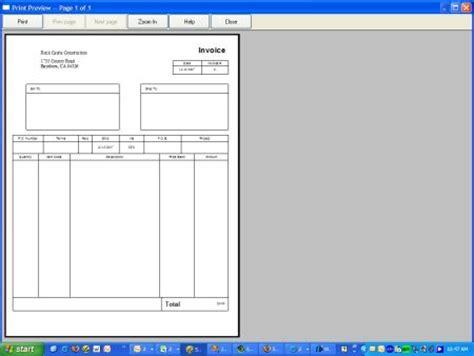 quickbooks invoice templates quickbooks invoice template free excel templates