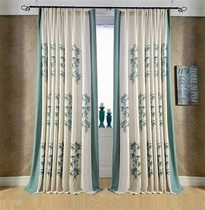 Bamboo embroidered chinese curtains for bedroom blackout for Bamboo curtains in bedroom