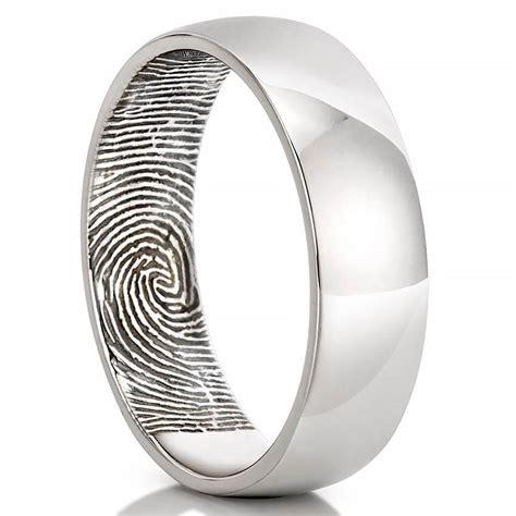 fingerprint wedding band men s fingerprint inside of wedding band