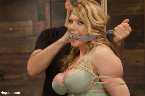 Big boobs chick gets stripped nude, roped a - XXX Dessert - Picture 2