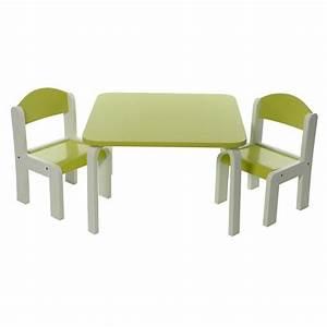 Ensemble Chaise Et Table : ensemble table et chaises enfant vert en bois fabio momo ~ Dailycaller-alerts.com Idées de Décoration