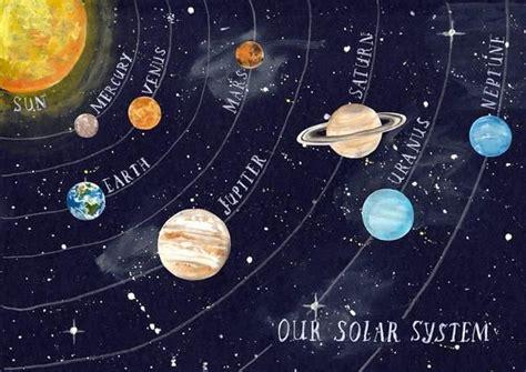 poster sonnensystem kinder kinderzimmer planeten englisch