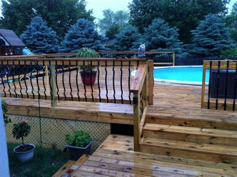 Above Ground Pool With Metal Deck