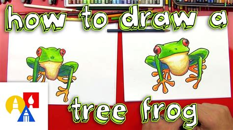 Learn How To Draw A Red Eye Tree Frog Email A Photo Of