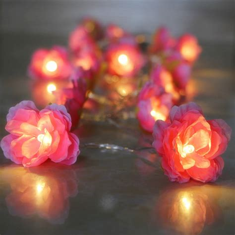 led twinkle lights battery battery operated diy 1m 2m 3m 4m cloth flower garland l