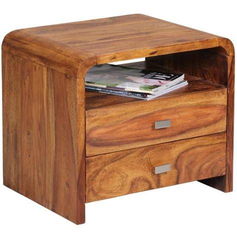 table chambre table de chevet en bois massif de palissandre avec 1