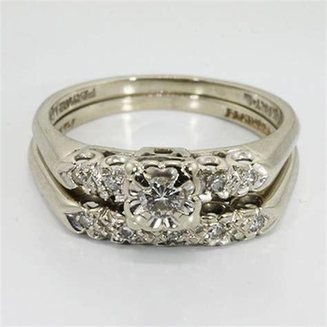 vintage wedding rings 14k white gold diamond vintage
