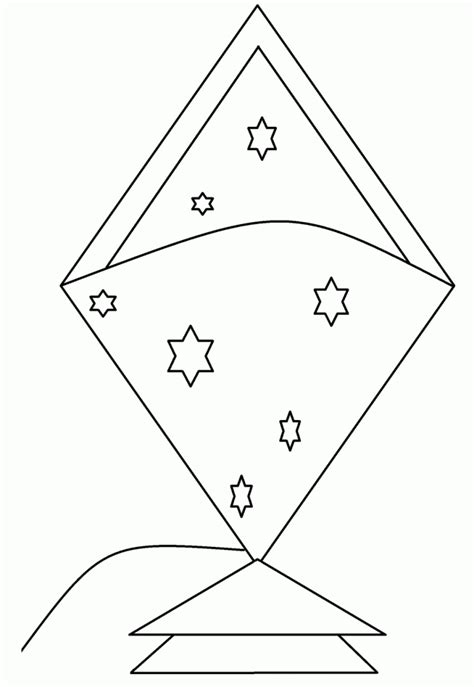printable kite coloring pages  kids