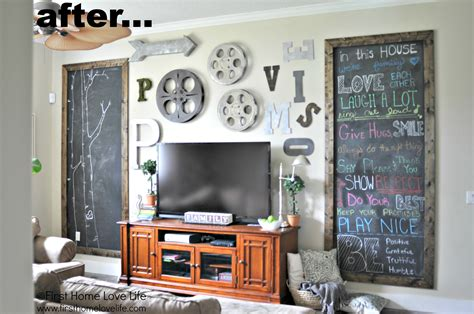 The Wall Decor by Chalkboard Fireplace Home