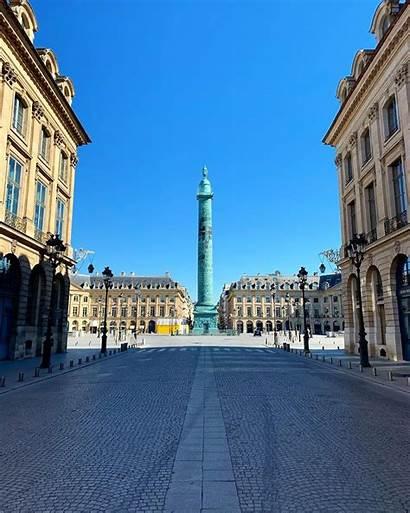 Paris Confinement Rues Pendant Vides Royal Inhabituellement