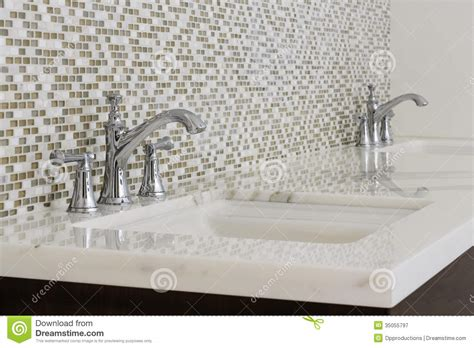 mosaic tile bathroom sink contemporary twin bathroom sinks and fixtures stock image