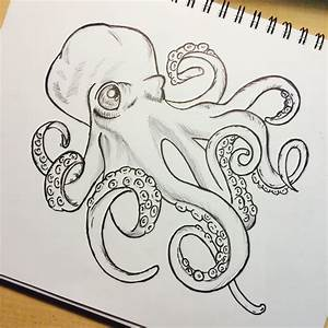 black and white octopus drawing - Szukaj w Google ...