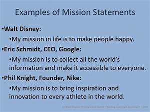 Developing a mission, vision, values, and goals admin ...